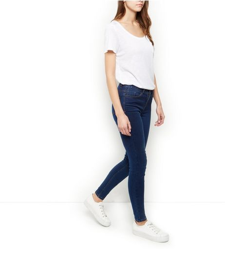 Dark Blue Supersoft Super Skinny Jeans  | New Look