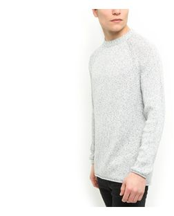 White Raw Edge Jumper  | New Look