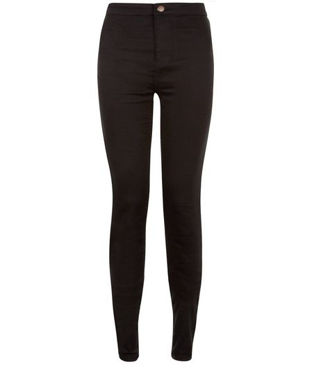 Tall 36in Black High Waist Super Skinny Jeans | New Look