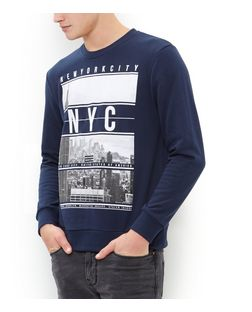 Navy New York City Sweater | New Look
