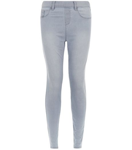 Pale Grey Jeggings  | New Look