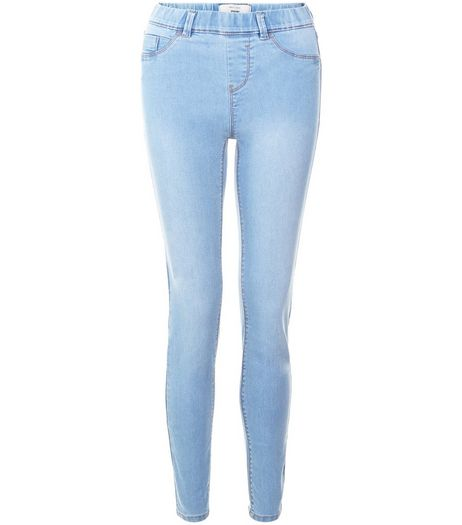 Pale Blue Jeggings  | New Look