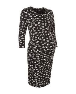 Maternity Black Bird Print Tunic | New Look