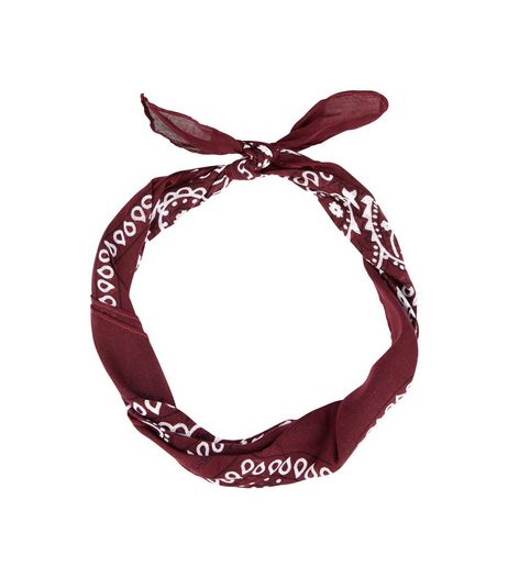 Burgundy Paisley Print Bandana | New Look