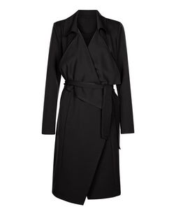Anita and Green Black Waterfall Trench Coat | New Look