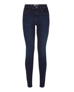 Navy Authentic Skinny Jeans | New Look
