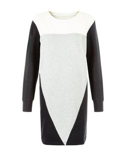 JDY Black Colour Block Dress | New Look