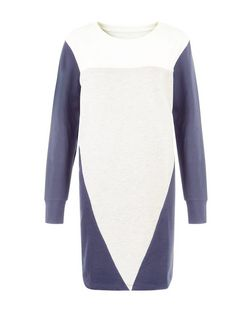 JDY Navy Colour Block Dress | New Look