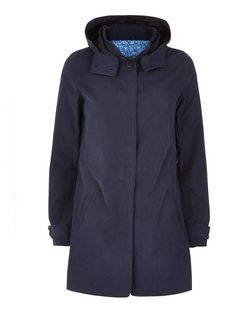 JDY Navy Hooded Coat | New Look