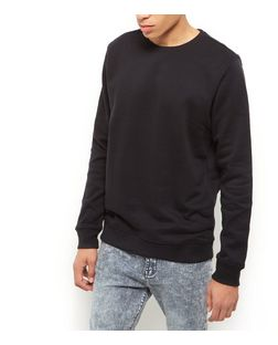 Black Basic Crew Neck Sweater | New Look