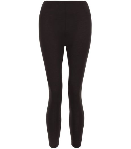 Black 20in Cropped Leggings  | New Look