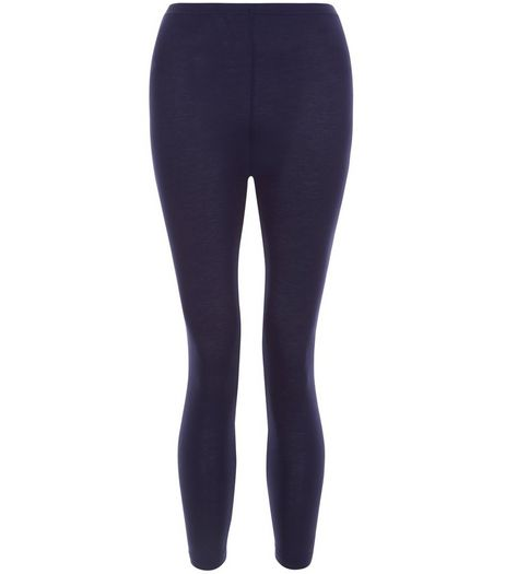 Navy 20in Cropped Leggings  | New Look