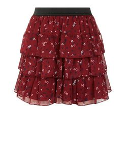 Girls Purple Floral Print Rara Skirt | New Look