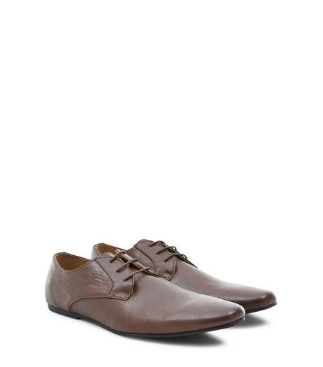 Brown Lace Up Gibson Shoes | New Look