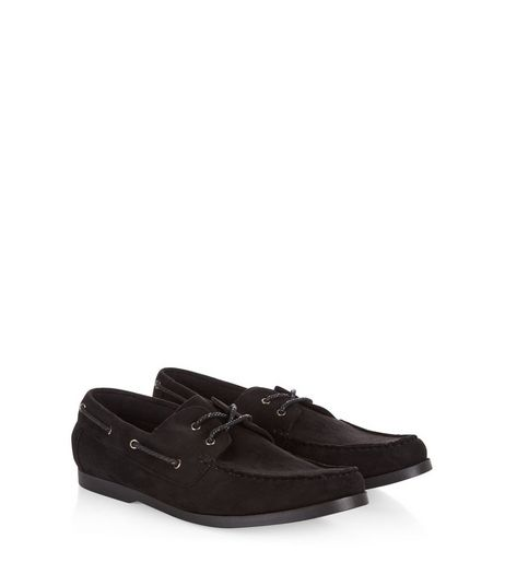 Black Boat Shoes  | New Look