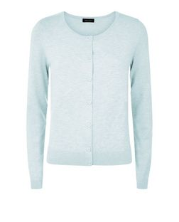 Mint Green Crew Neck Cardigan | New Look