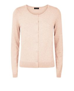 Coral Crew Neck Cardigan | New Look