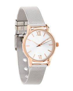 Grey Mesh Watch  | New Look