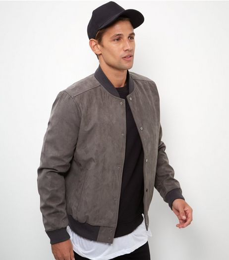 Mink Suedette Bomber Jacket  | New Look