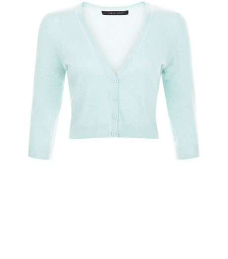 Mint Green Cropped Cardigan | New Look