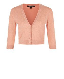 Coral Cropped Cardigan | New Look