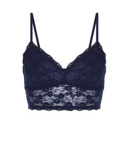 Navy Lace Bralet | New Look