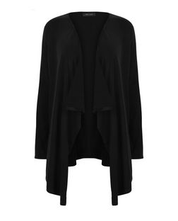 Black Waterfall Cardigan | New Look