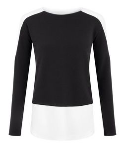 Parisian Black Colour Block Long Sleeve Top | New Look