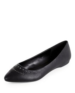 Black Western Pointed Loafers  | New Look
