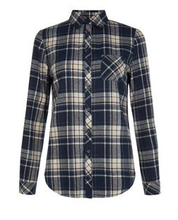 Teens Blue Brushed Check Shirt  | New Look