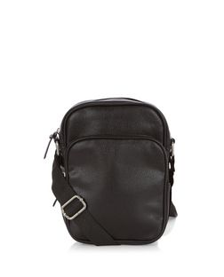 Black Mini Flight Bag  | New Look