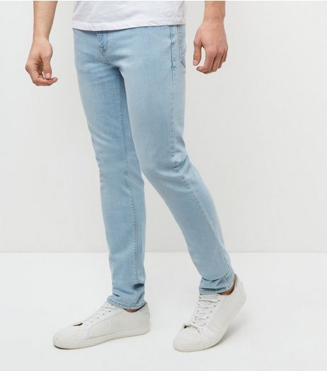 Pale Blue Bleached Skinny Jeans  | New Look