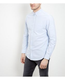 Pale Blue Single Pocket Oxford Shirt  | New Look