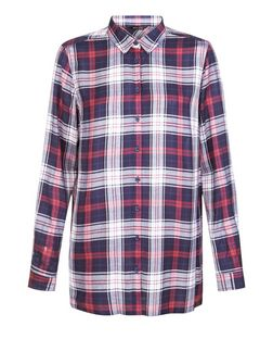 Blue Check Long Sleeve Shirt | New Look