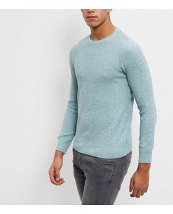 Green Box Stitch Jumper  | New Look