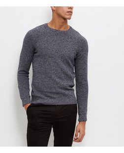 Blue Box Stitch Jumper  | New Look