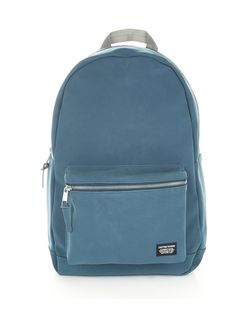Navy Faux Nubuck Backpack  | New Look