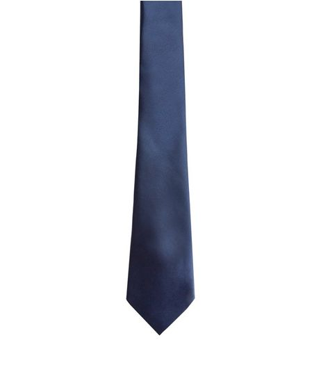 Navy Plain Tie  | New Look