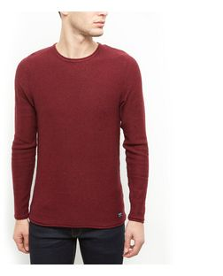 Produkt Burgundy Flecked Crew Neck Jumper  | New Look