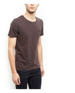 Produkt Dark Grey Single Pocket T-Shirt  | New Look