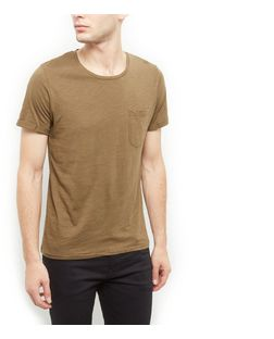 Produkt Light Green Single Pocket T-Shirt  | New Look