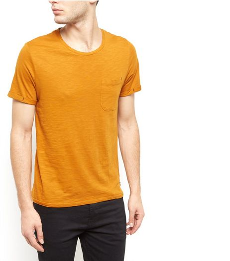 Produkt Yellow Single Pocket T-Shirt  | New Look