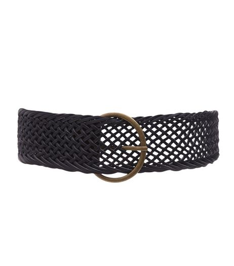 Black Woven Belt  | New Look