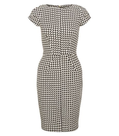 Closet Black Houndstooth Bodycon Dress | New Look