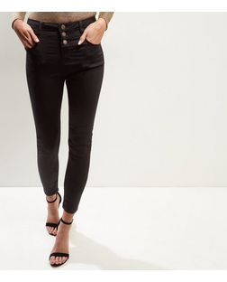 Tall 36in Black Supersoft High Waist Super Skinny Jeans  | New Look