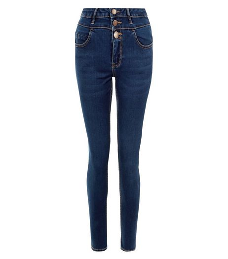 Tall 36in Blue Supersoft High Waist Super Skinny Jeans  | New Look