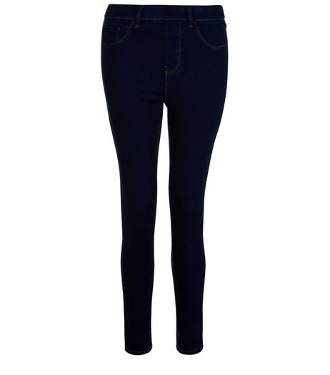 Petite 28in Navy Jeggings | New Look