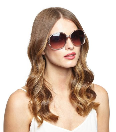 Mink Oval Cut Out Sunglasses | New Look