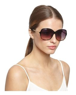 Black Chain Side Rectangle Sunglasses | New Look