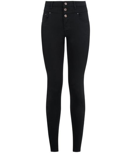 Petite 28in Black High Waist Supersoft Skinny Jeans | New Look